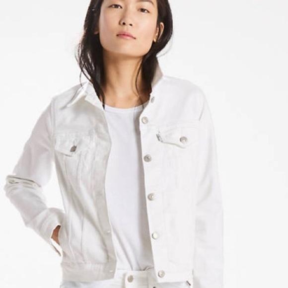 LEVI'S White Trucker Denim Jacket